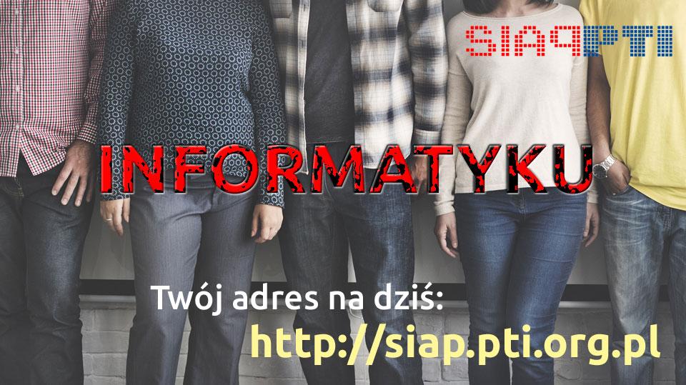 twój adres na dziś to siap.pti.org.pl